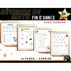 Cahier de révision en math, 1er cycle AVEC CORRIGÉ