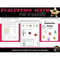 Évaluation finale math première (1ère) année