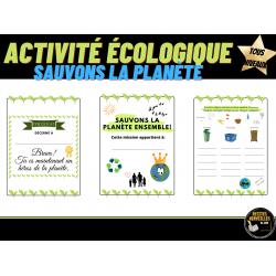ACTIVITÉ FIN D'ANNÉE- Environnement et déchets