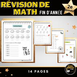 Révision math, premier cycle-2e année- FIN D'ANNÉE