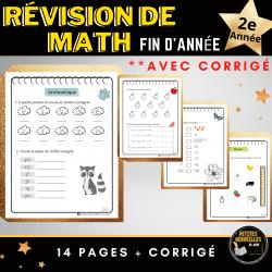 Révision math, premier cycle -2e- AVEC CORRIGÉ