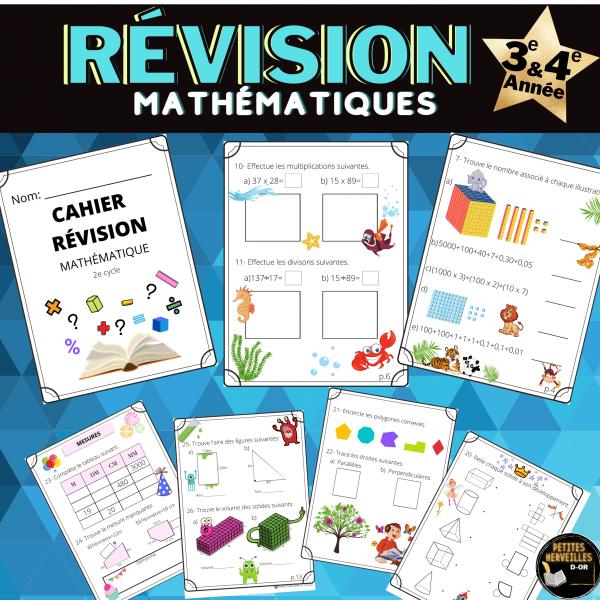 Révision mathématique, 2e cycle -3e et 4e Année