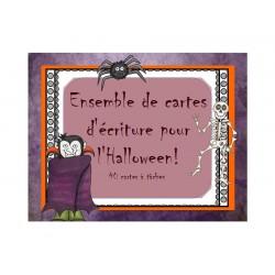 Cartes d'écriture pour Halloween