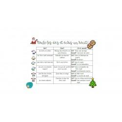 Roule les dés et écris une histoire de Noël