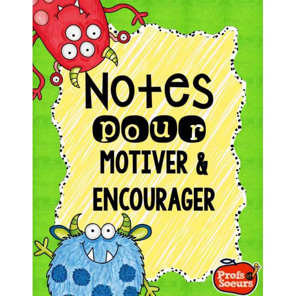 Notes pour motiver et encourager