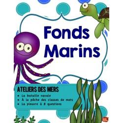 Centres de littératie: Les fonds marins