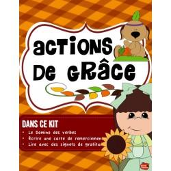5 Ateliers de littératie: Action de Grâce
