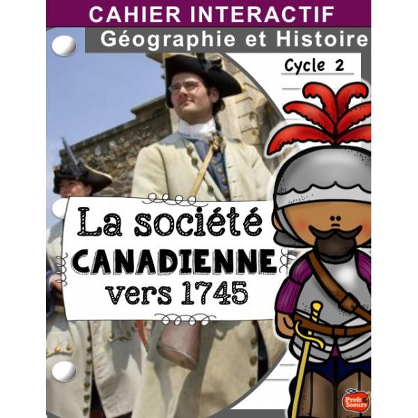 Cahier interactif: Société canadienne automne