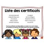 *Certificats pour tous