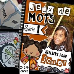 Jeux de mots pour littératie: série 1