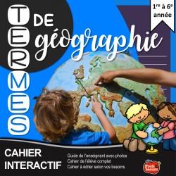 Cahier interactif: Géographie du primaire