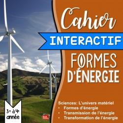 Cahier Interactif: Formes d'énergie
