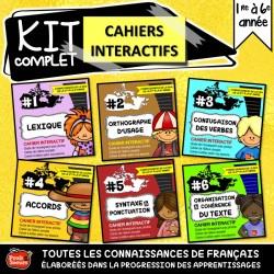 *Cahier interactif de français x 6 : Printemps