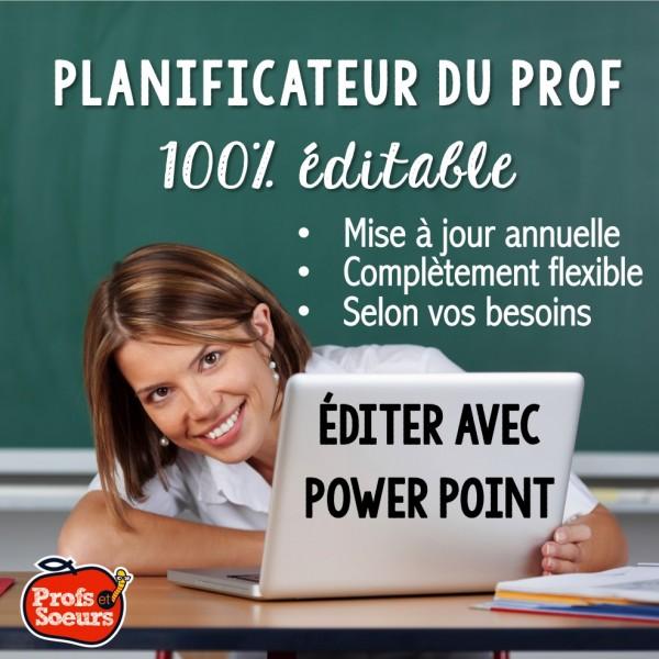 Planificateur/ Agenda du prof