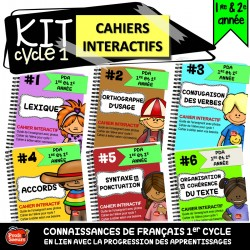 Cahier interactif 1er cycle: français