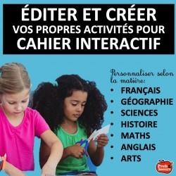 Cahier interactif à éditer