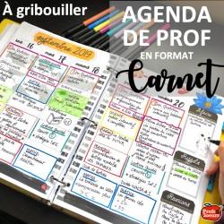 Planificateur/ Agenda du prof 2019-2020