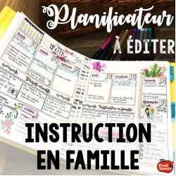 Planificateur pour instruction en famille