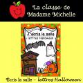Écris la salle-lettres Halloween