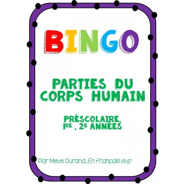 Bingo du corps humain