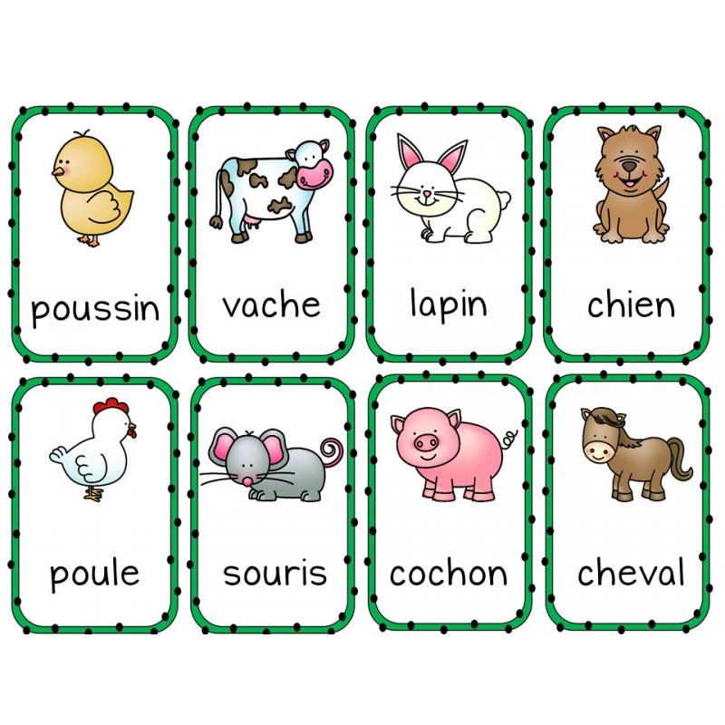Resultado de imagen para animaux de la ferme vocabulaire