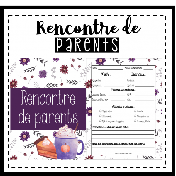Documents pour rencontre de parents