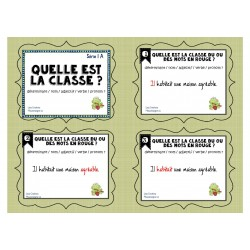 Cartes à tâches: Quelle est la classe? Série 1A
