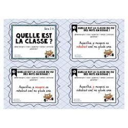 Cartes à tâches: Quelle est la classe Série 2A