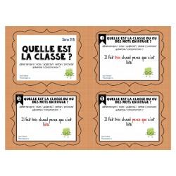 Cartes à tâches: Quelle est la classe Série 3B