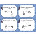 Cartes à tâches: Fractions et %
