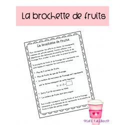 La brochette de fruits