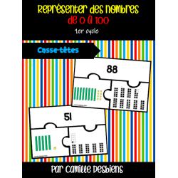 Casse-têtes représentation des nombres de 0 à 100