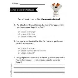 Questionnaire ECR film Comme des bêtes 2