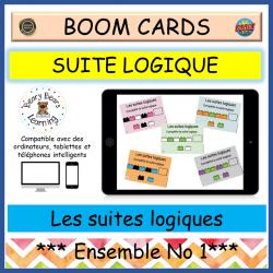 BOOM Cards™ Ensemble Les suites logiques 1