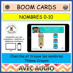 BOOM Cards™ Cherche et trouve Nombres Crayon 0-10