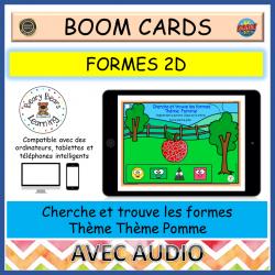 BOOM Cards™ Cherche et trouve les formes Pomme