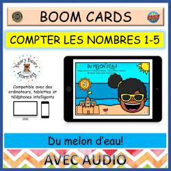 BOOM Cards™ Melon d'eau Compter 1 à 5