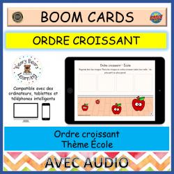 BOOM Cards™ Ordre Croissant École