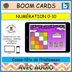 BOOM™ Cards Casse-tête de l'Halloween 0-10