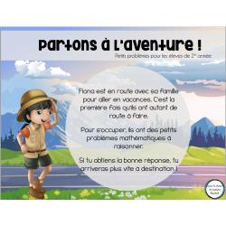 Partons à l'aventure - Petits problèmes 2e année