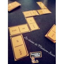 Dominos tables de multiplication