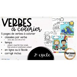 Verbes à colorier - 2e cycle