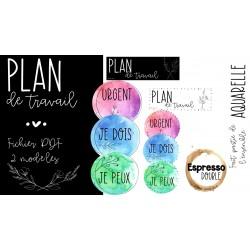 Plan de travail - Aquarelle
