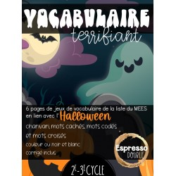 Vocabulaire terrifiant - Halloween