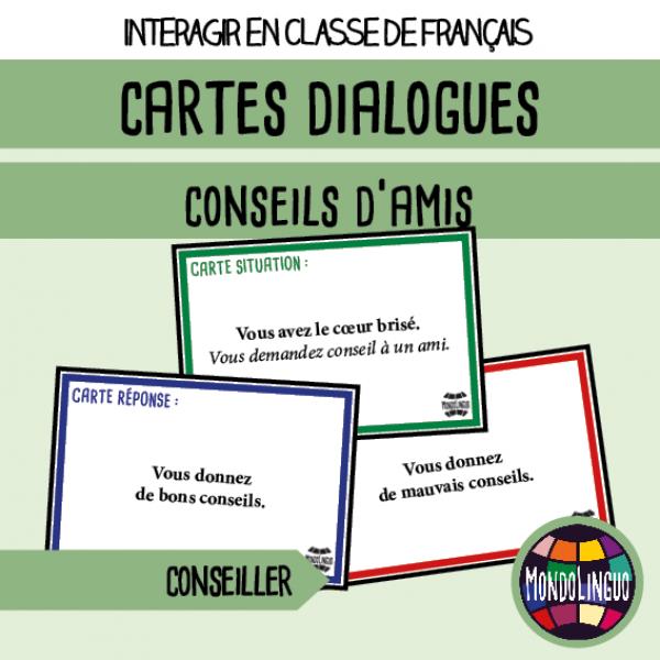 Cartes dialogues : conseils d'amis