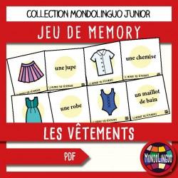 Jeu de Memory sur les vêtements