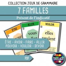 Jeu de 7 familles - Verbes 1 au Présent