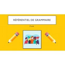 Référentiel de grammaire 2e cycle