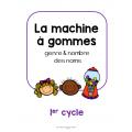 La machine à gommes - genre et nombre des noms