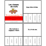 Porte-clés : les classes de mots